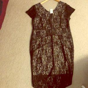 NWT Lane Bryant Dress (Black Lace)